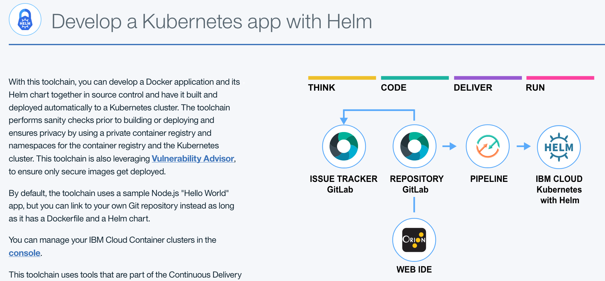 Deploy with Continuous Delivery · IBM Cloud Kubernetes